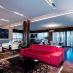 contemporary design of penthouse main room