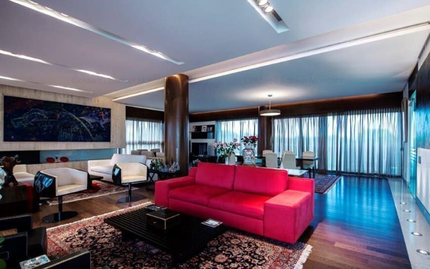 contemporary design of penthouse main room