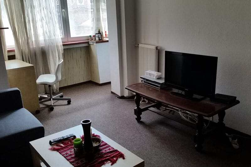 living room furniture with tv