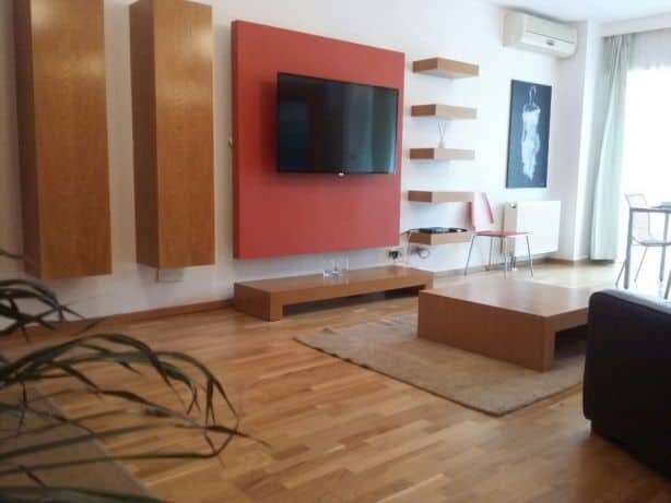 modern stile living room with LCD TV