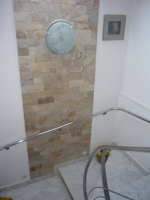 stone decorated stairs