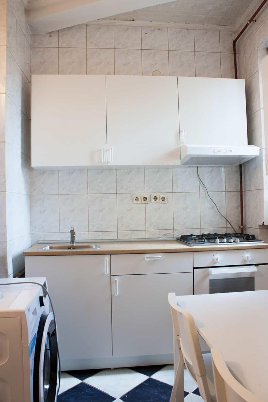 ikea kitchen with stove