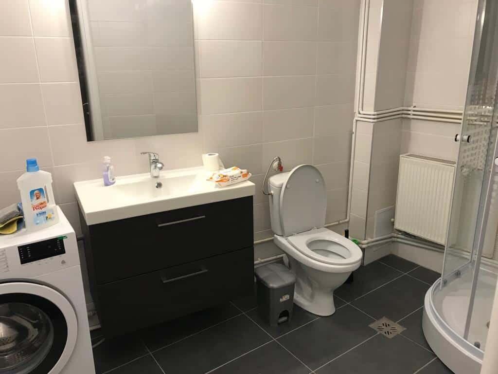 modern equipped bathroom