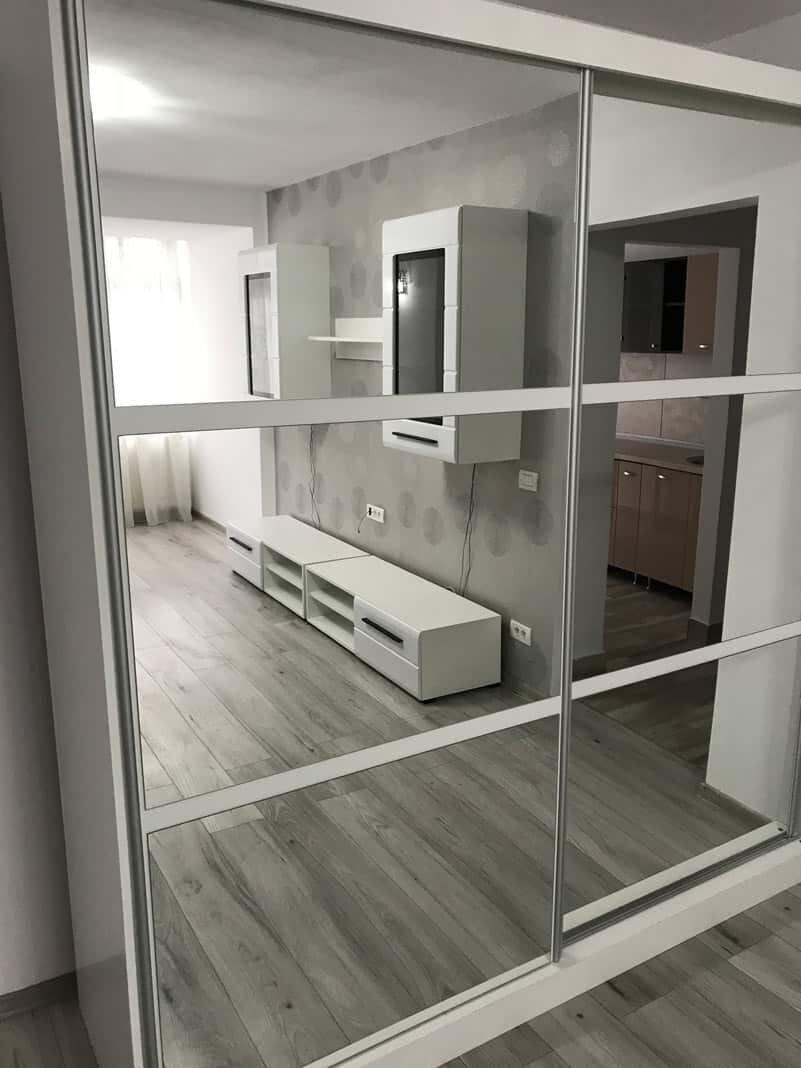 mirror doors wardrobe in living room