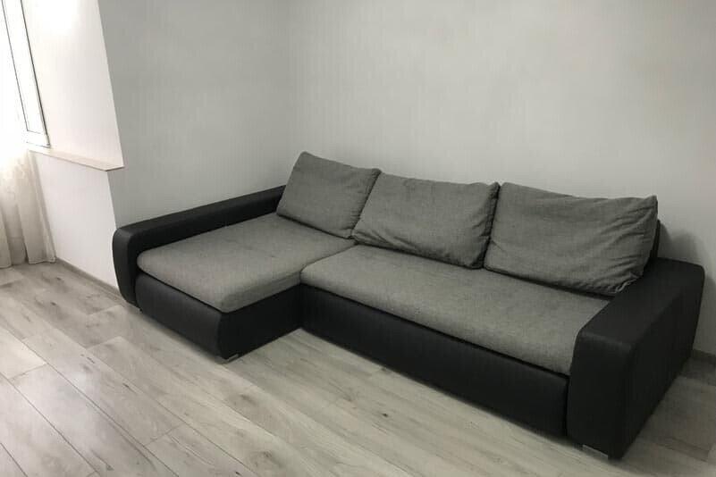 grey sofa corner