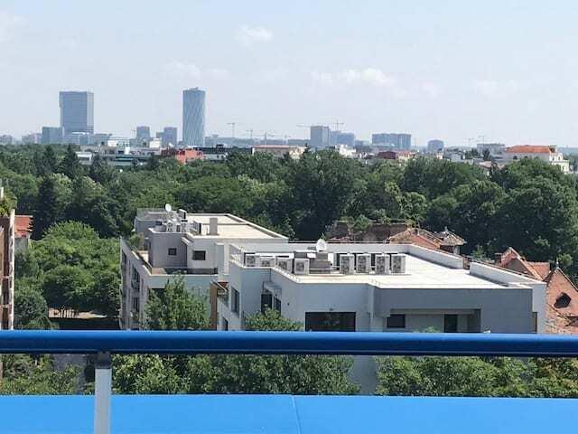 penthouse terrace overlooking bucharest city