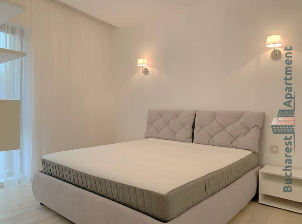 light bedroom with big bed