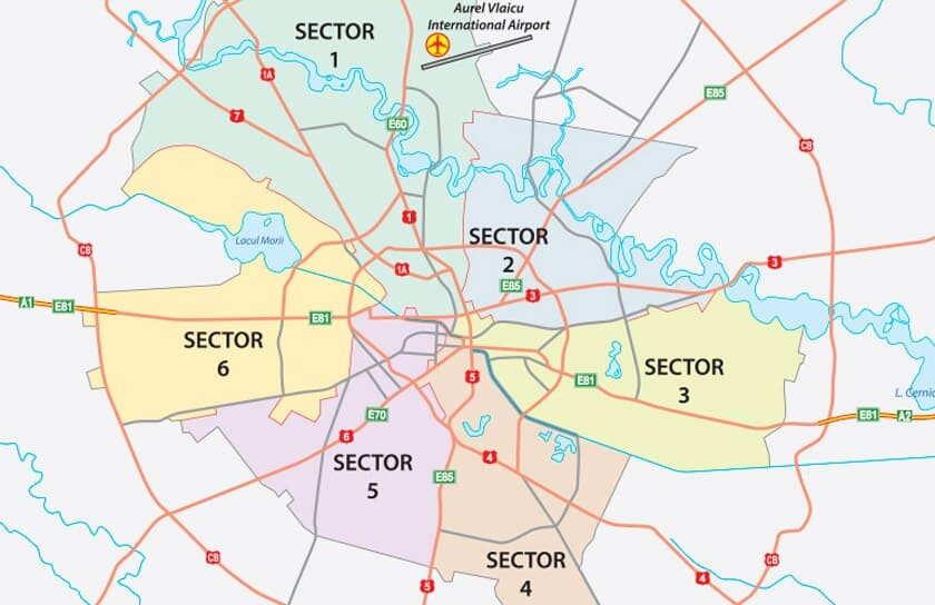 bucharest sectors map