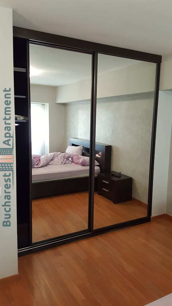 bedroom wardrobe with big mirrors