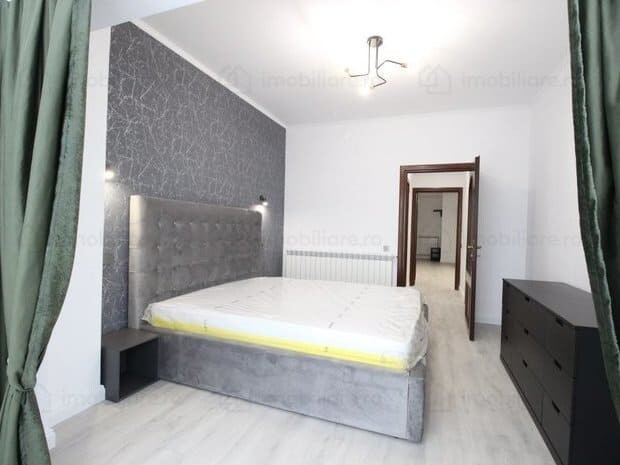 grey bed and walls bedroom