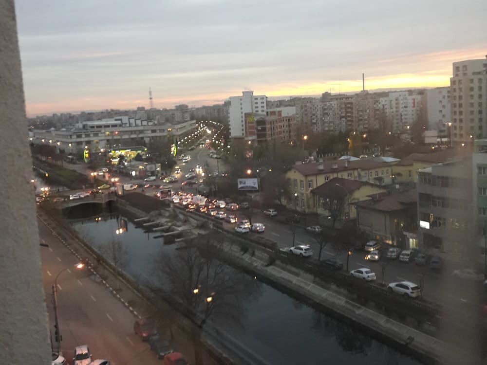 view to dambovita river in Bucharest