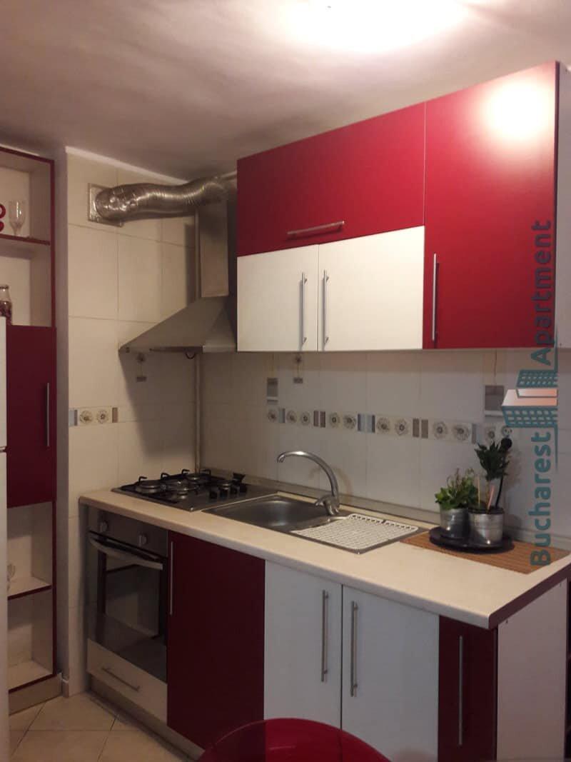 red furniture kitchen
