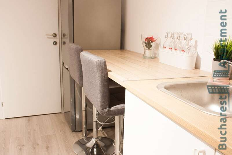 kitchen top with bar chairs
