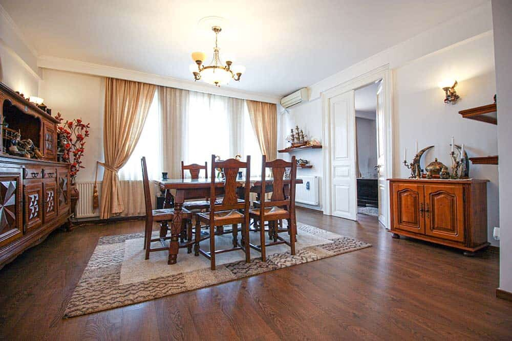 renovated apartment with traditional furniture